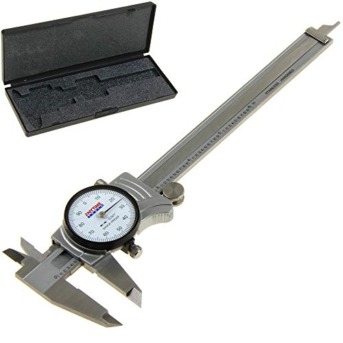 "Anytime Tools Premium Dial Caliper 0-6""/0.001"" Precision Double Shock Proof Solid Hardened Stainless Steel"