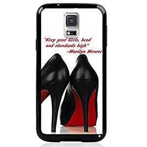 DaojieTM Generic Cinderella Shoes Quote with Black High Heels Red Bottoms Hard Snap on Phone Case Cover Samsung Galaxy Note4