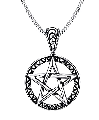 Stainless Steel Powerful Pentagram Necklaces