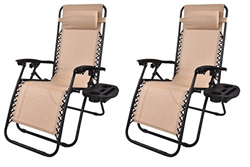 BTEXPERT Zero Gravity Chair Case Lounge Outdoor Patio