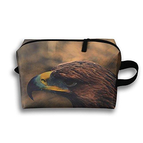 Travel Bags Birds Eagle Head Portable Storage Bag Clutch Wallets Cosmetic Bags Organizer Zipper Hangbag Carry Case