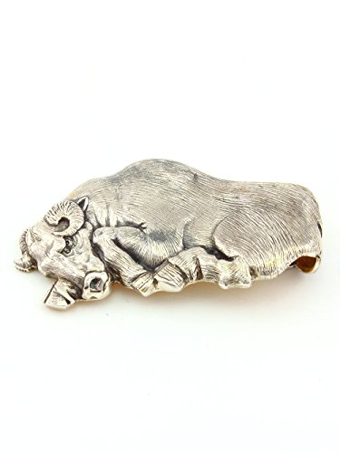 Silver Banknote clip Money clip ''Taurus'' by Sribnyk - Gallery of Silver Art