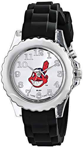Game Watch White Sox Chicago (Game Time ' Flash Black Youth Watch-Chicago White Sox' Quartz Metal and Silicone Casual, Color:Black (Model: MLB-FLB-CLE))