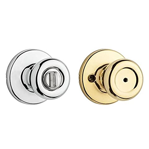 Kwikset 300T 3X26 6AL RCS 300T Security Series Tylo Privacy Door Knobset, Polished Brass x Polished - Privacy Door Set