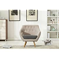 Boraam 84118 Kara Armchair, Light Gray & Dark Gray
