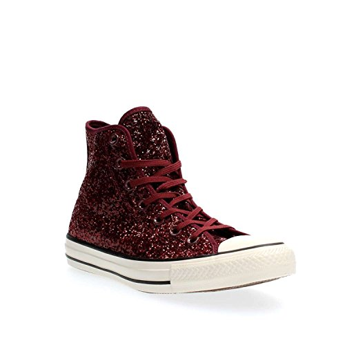 Converse Hi Canvas All Star Shoes In Bordeaux Glittered Fabric 555116C bordeaux IPrN8nwgY