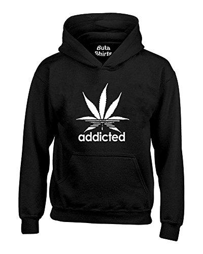 Addicted Marijuana Pot Leaf 420 Weed Day Stoned Parody Hoodie