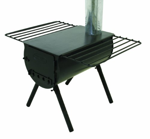 Camp Chef Alpine CS14 Heavy Duty Cylinder Tent Cabin Stove with damper and side shelves Review