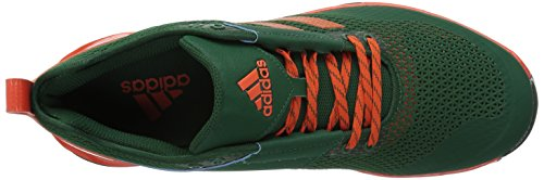 Adidas Mens Freak X Carbon Mid Cross Trainer Verde Scuro, Arancio Collegiale, Ftwr Bianco