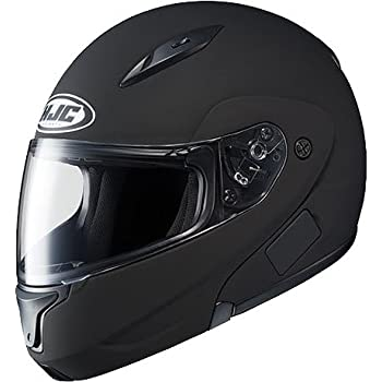 HJC Solid Men's CL-MAX II Bluetooth Sports Bike Motorcycle Helmet - Matte Black / X-Large