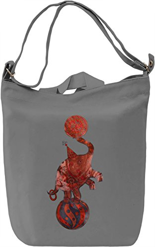 Circus Elephant Borsa Giornaliera Canvas Canvas Day Bag| 100% Premium Cotton Canvas| DTG Printing|
