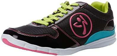 Zumba Fitness LLC Women's Z Kickz Originals Dance Sneaker,Black/Mulberry,11 M US