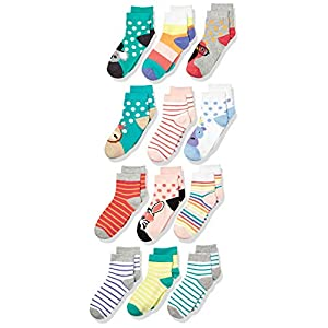 Spotted Zebra Kids Cotton Crew Socks
