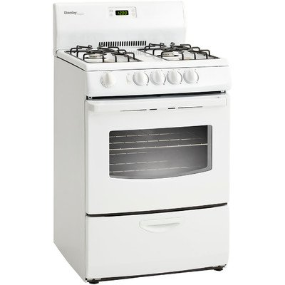 Designer 24 In. Wide 3 Cu. Ft. Capacity Gas Range with Oven Window, White
