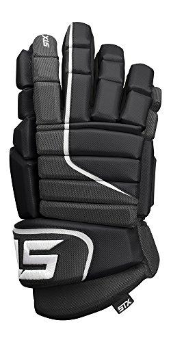 STX Ice Hockey Stallion HPR Junior Gloves, Black/Black, 12
