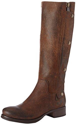 Now 1765 - Botas de cuero mujer marrón - Marron (Crazy Cuoio Ottone)