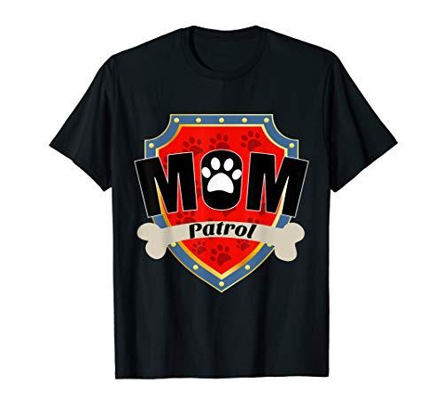 T-shirt Dog Dark Womens - Funny mom Patrol T-Shirt - Dog mom T-Shirt