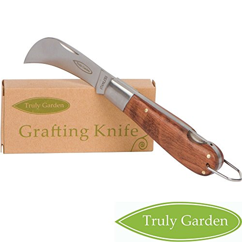 - Truly Garden - Folding Garden Knife. This Hawkbill knife has a curved blade great for hundreds of uses. Not just a great gift for a gardener.