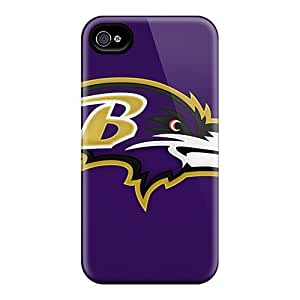 Shockproof Hard Cell-phone Cases For Iphone 4/4s (HEr7334hWcN) Unique Design Fashion Baltimore Ravens Skin