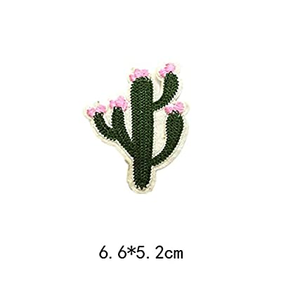 14pcs Patches Stickers Cute DIY Clothing Patches Cartoon Cactus Fruit Patches for T-Shirt Jeans Skirt Vests Scarf Hats Bags Decor: Arts, Crafts & Sewing