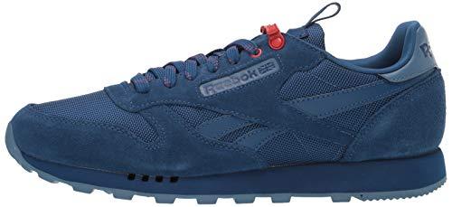 Reebok Men's Classic Sneaker, Bunker Slate/Primal red, 12
