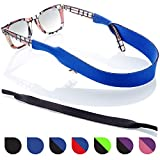 Sunglasses and Glasses Safety Strap - 2 Pack | Anti-Slip and Fast Drying Sport Glasses Strap (Blue + Black)