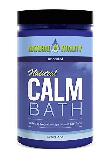 Natural Vitality Natural Calm Magnesium Bath Minerals, Unscented, 20 (Magnesium Unscented Bath Salt)