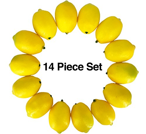Realistic Fake Lemons set – 14pcs– Real Looking Fake Fruits for Decoration – Fake Lemons for Decoration, Lifelike Simulations, Home Staging, Fake Fruit Bowl, Kitchen Table Home Décor, Photography Prop by Dasksha