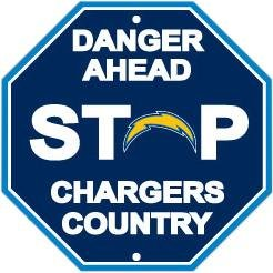 Fremont Die NFL San Diego Chargers Stop Sign (Ring Diego San Chargers Key)