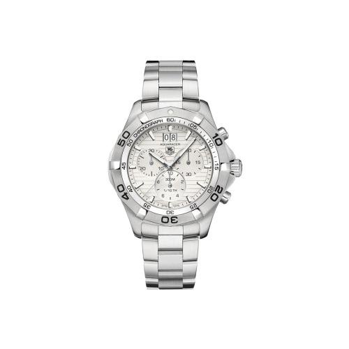 - Tag Heuer Men's CAF101F.BA0821 Aquaracer Light Silver Stainless Steel Watch