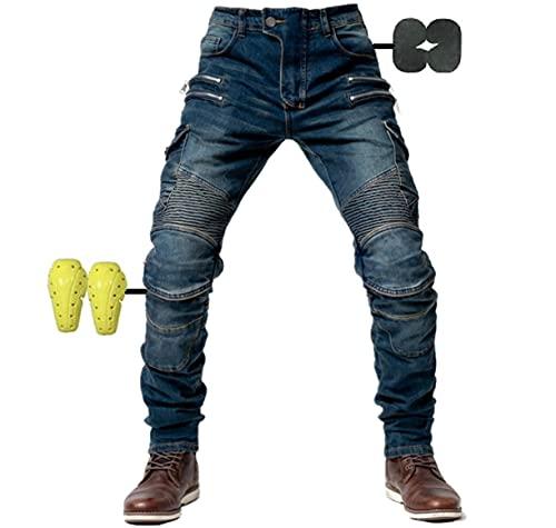CBBI-WCCI Herren Motorradhose Motorrad Jeans Biker Trousers Motorrad Hose Fahrrad Riding Schutzhose,4 x Schutz…