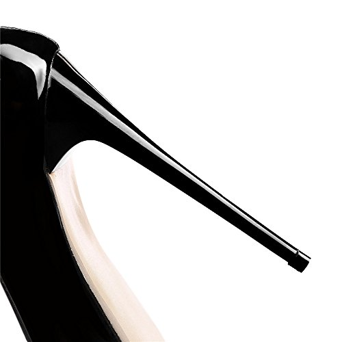 Pointed Heels Toe Solid SexyPrey Court Black Formal Shoes Women's Thin High 5XUqnnwH6x