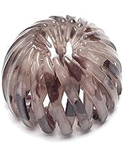 Intrekbare Haar Loops Vogelnest Vormige Haarclips Haaraccessoires Lichte Koffie