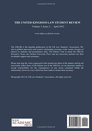 UK Law Student Review 1(1): United Kingdom Law Student