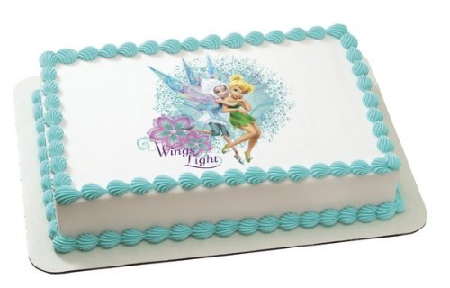 Tinkerbell & Periwinkle Wings Light Edible Image Frosting Sheet Cake Topper Decoration