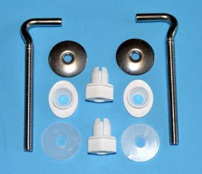 2 Stainless Steel Toilet Seat L Shape A23 Adjustable Hinges Long Set Bath