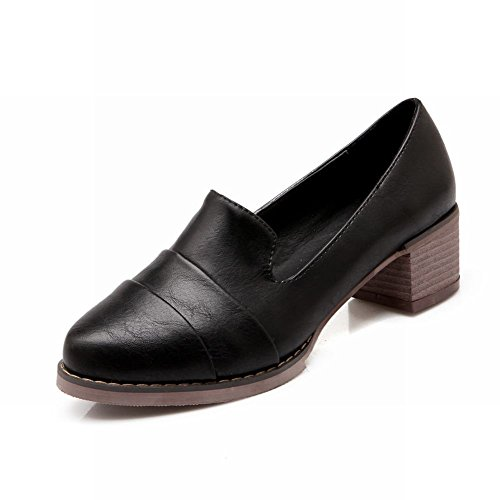 Show Shine Damesmode Retro Dikke Schoenen Schoenen Zwart