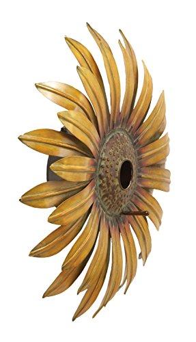 Deco 79 63802 Metal Decorative Sunflower Bird House, 16-Inch by Deco 79