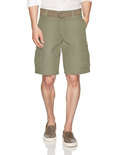 Lee Men's New Belted Wyoming Cargo Short, Olive, -