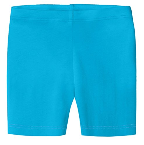 (City Threads Big Girls Organic Cotton Underwear Bike Shorts for Sensitive Skin Or SPD Sensory Friendly, Turquoise, 7)