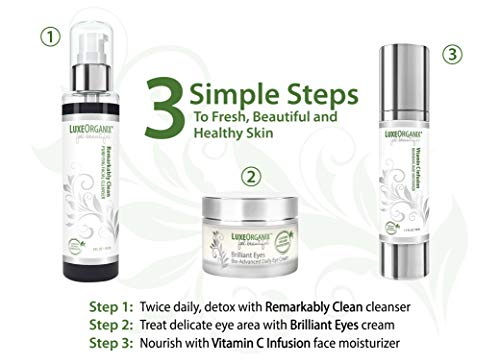 41 TE67eJML - Organic Face Moisturizer: Anti Aging Wrinkle Cream - Made in USA - Skin Tightening Vitamin C To Reduce Appearance of Dark Spots. Vegan All Natural Daily Facial and Neck Firming Lotion - 1.7 Ounce Pump