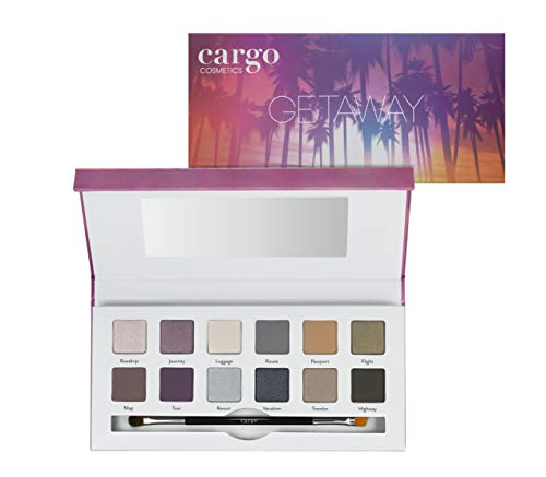 Cargo Cosmetics - High Pigment Eyeshadow Palette, Smudge-Proof, Transfer-Proof, Longwear, Crease-Proof, Getaway Eye Shadow Palette ()