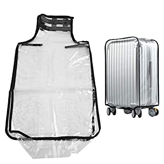 Naroote Luggage Cover, PVC Transparent Dust Proof Suitcase Cover Waterproof Trolley Case Protecter-Quality is Our Culture(30inch)