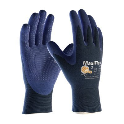 (Protective Industrial Products® X-Large MaxiFlex® Elite by ATG® Ultra Light Weight Blue Micro-Foam Nitrile Palm And Finger Tip Coated Work Glove With Blue Seamless Nylon Knit Liner And Continuous Knitwrist)