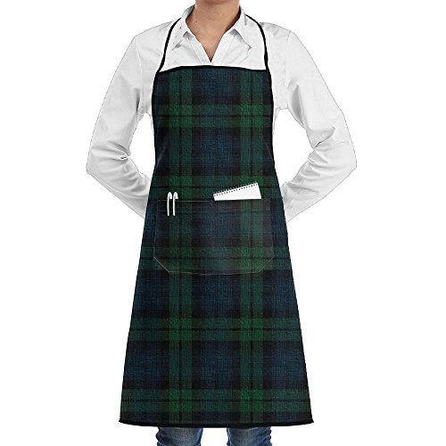 UTYDHG Black Watch Plaid Bib Apron With Pockets For Women And ()