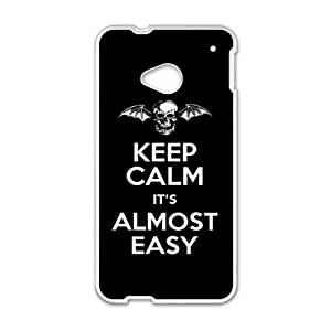 keep calm it's almost easy Phone Case for HTC One M7