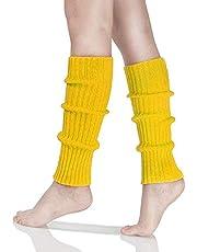 Women's Fashion Leg Warmers 80s Ribbed Knit Leg Warmers Knee High Socks Warm Leg Warmer for Party Sports