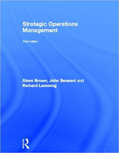 Strategic Operations Management by Steve Brown (2013-01-16)