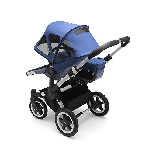 Bugaboo Donkey2 Breezy Sun Canopy, Sky Blue - Extendable Sun Canopy with UPF Sun Protection and Mesh Ventilation Panels by Bugaboo (Image #1)