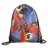 Pure Handmade Fine Art Decorative Animal Lightweight Drawstring Bag Sport Gym Backpack Gym Bag For Men And Women
